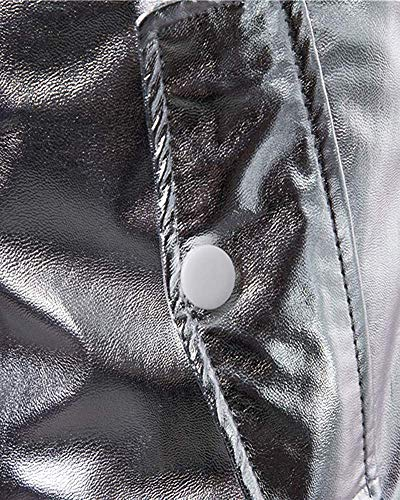 Cappotto Corte Casual Maniche Iexcl; colore Cappuccio Dimensione Uomo Con S Argento Esterno A amp; Tasche Giacca M Macr; Oro xP1180q