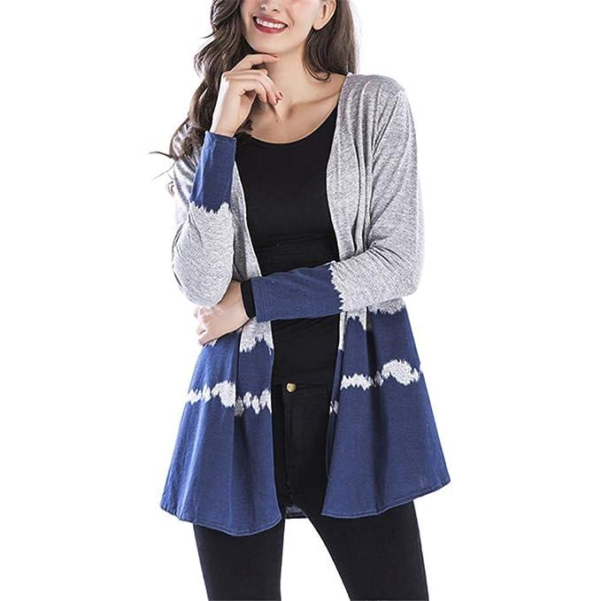 MISSMAOM Largo Cárdigan Cascada Loose Chaqueta Envolver Bolero Capote Rebeca Capucha Oversize Suéter Casual Basic Mujer: Amazon.es: Ropa y accesorios