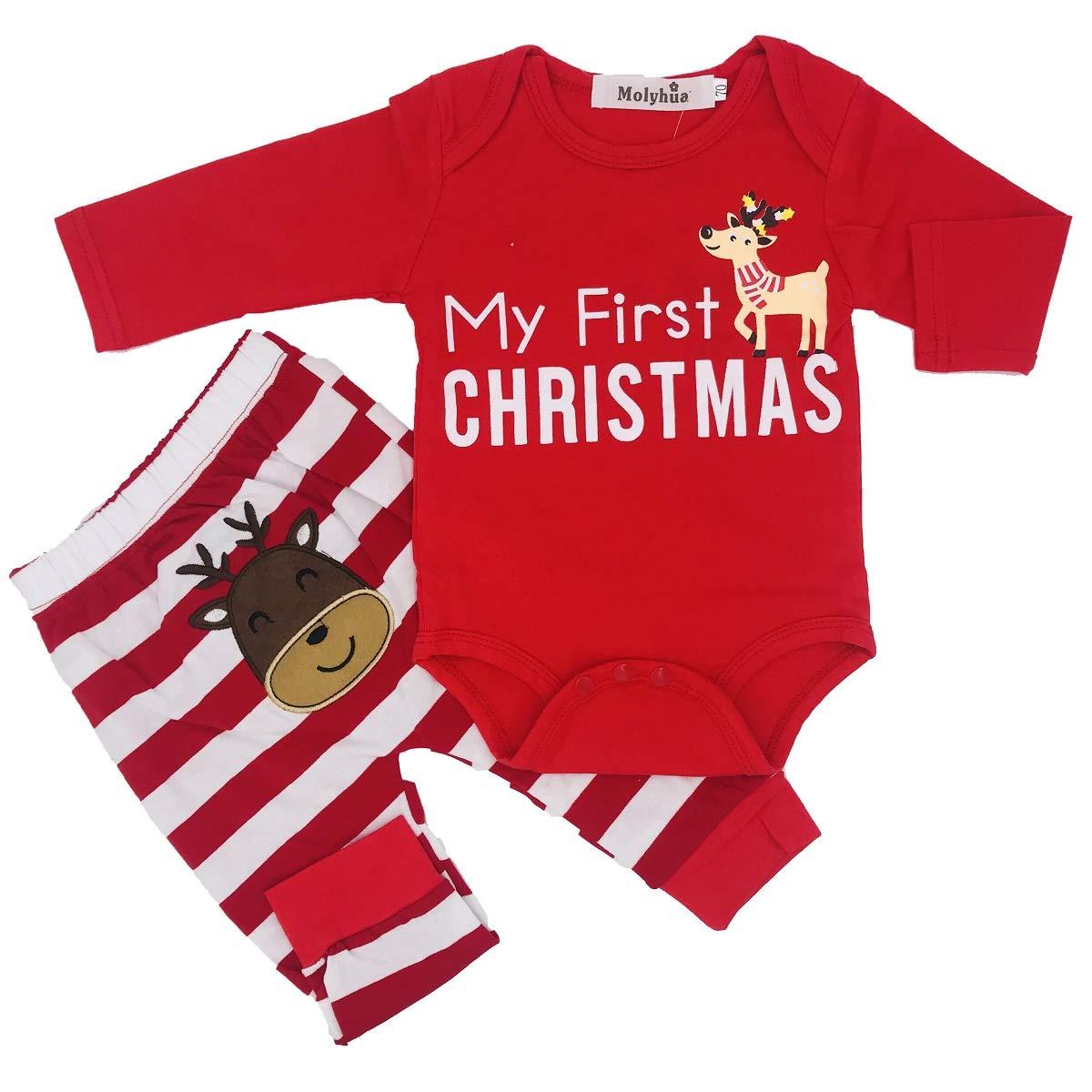 913639959e9 Amazon.com  MOLYHUA Baby Christmas Pajamas