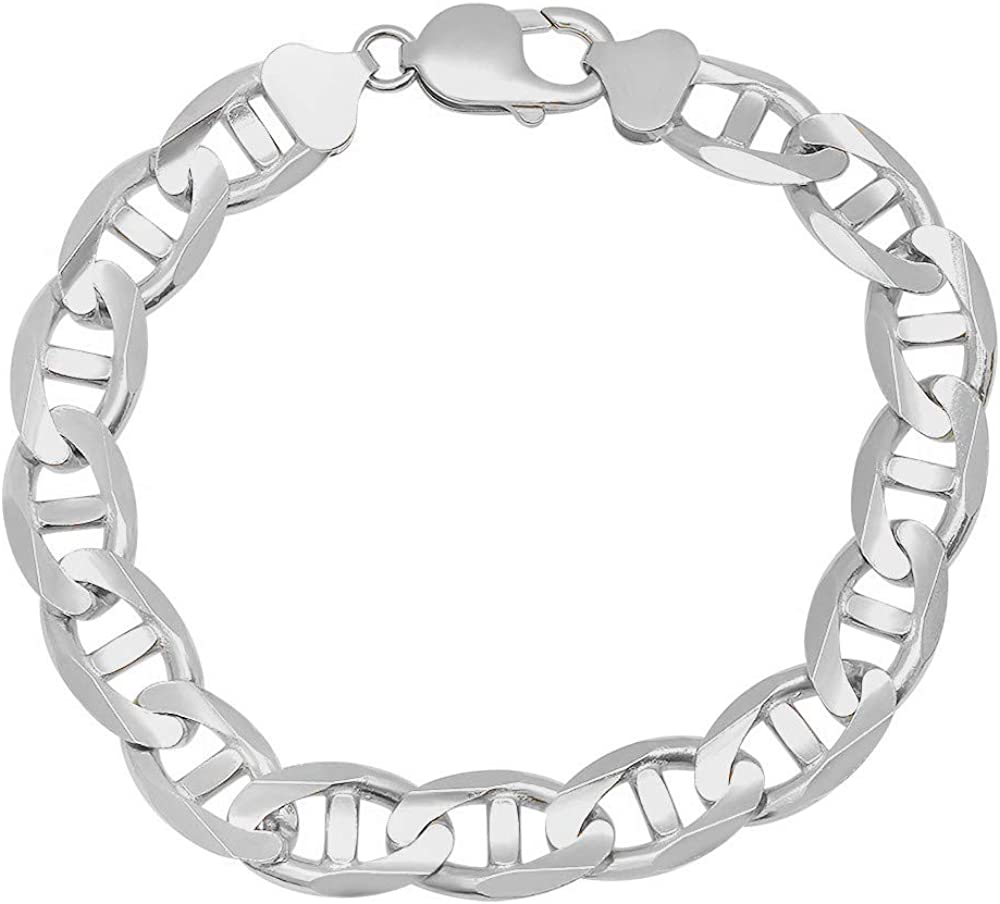 Sterling Silver 6.5mm Anchor Bracelet