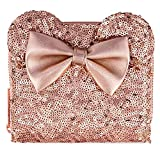 Disney Parks Minnie Mouse Sequined Wallet by Loungefly - Rose Gold