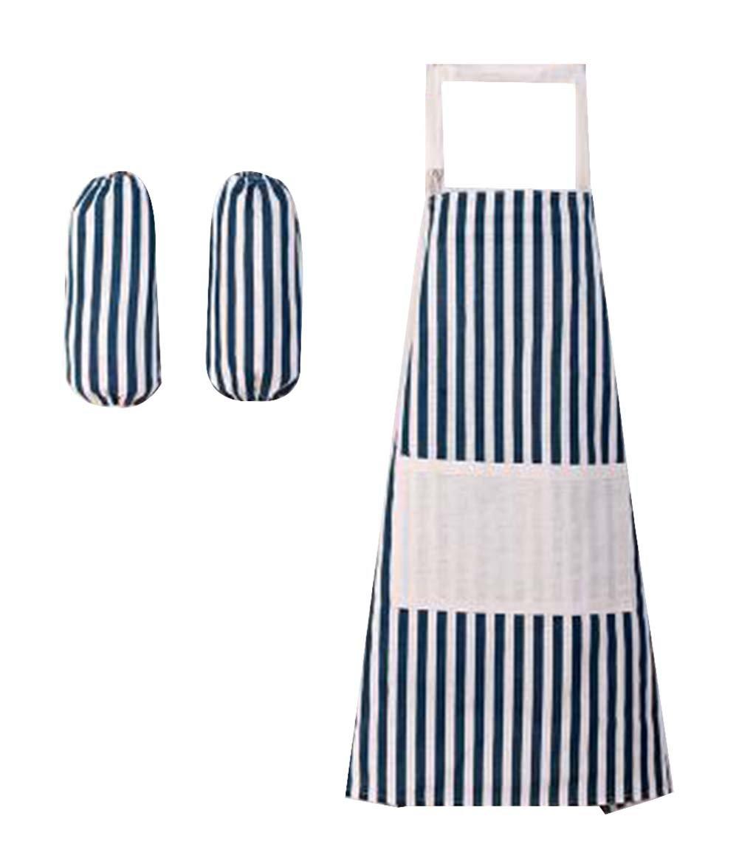 キッチンコットンエプロンかわいい大人用エプロンのペアを袖# 3   B07B8ZNH2J