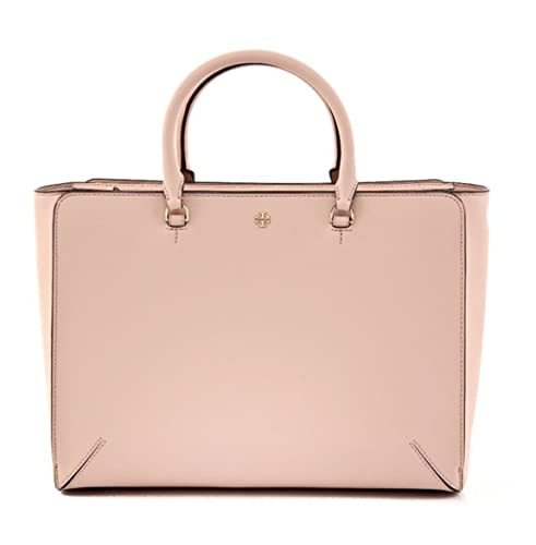 588d1ad10318 Tory Burch Robinson Large Leather Pale Apricot Zip Top Tote  Amazon.ca   Shoes   Handbags