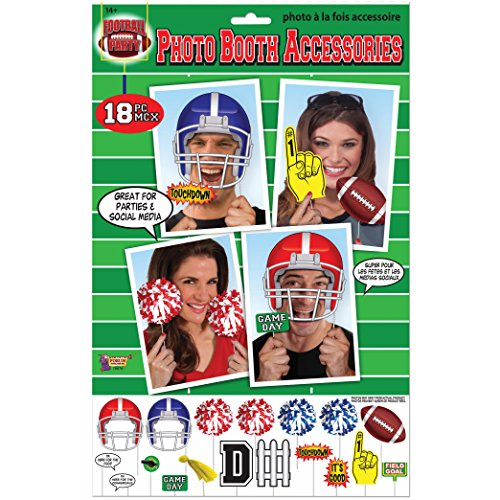 Forum Novelties Party Photo Booth Accessory Pack, Game Day -