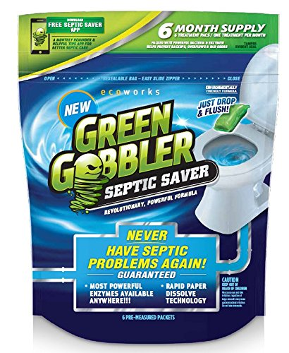 Green Gobbler SEPTIC SAVER Bacteria Enzyme Pacs - 6...