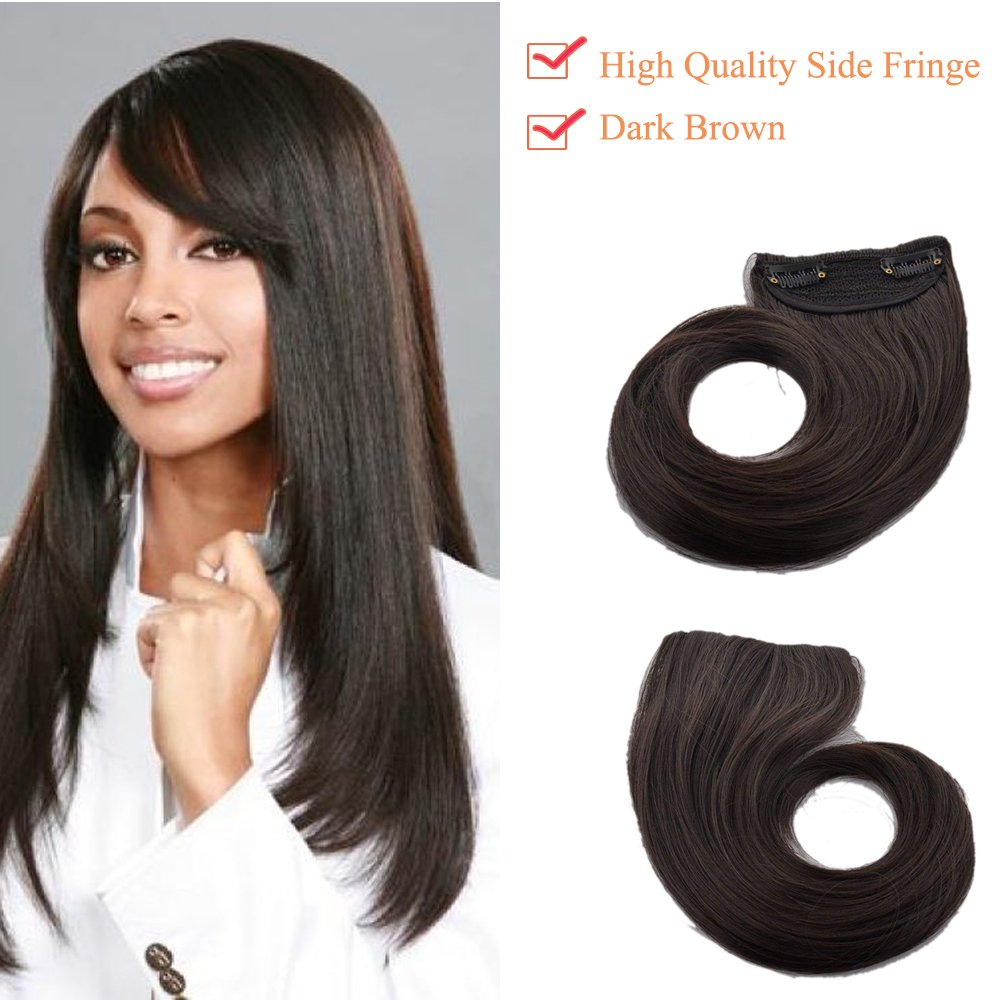 Extension Frangia Capelli Bangs Hair Clip One Piece Frangetta Corta Frontale Capelli Lisci 30g Nero Naturale Lady Outlet Mall