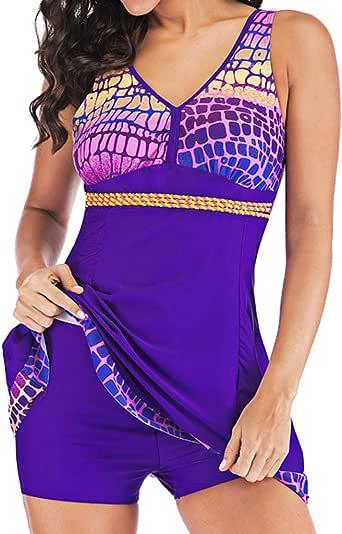 ZHIZUN DEELIN Trajes de baño para Mujeres Bikini Sexy de Talla Grande Ropa de baño Conservador de gradiente con Cuello en V para Mujer Ropa de Playa: Amazon.es: Ropa y accesorios