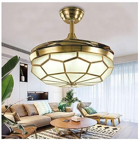 Amazon.com: Angels Home - Ventilador de techo retráctil con ...