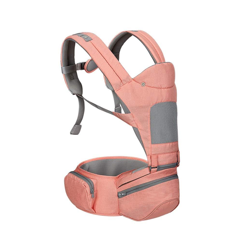 YONGLIA 多機能ベビーキャリア、四季の普遍的なウエストスツール、あなたの子供の成長のための理想的な贈り物を保持している赤ん坊の前部保持3色 (色 : ピンク)  ピンク B07Q7ZKXJG