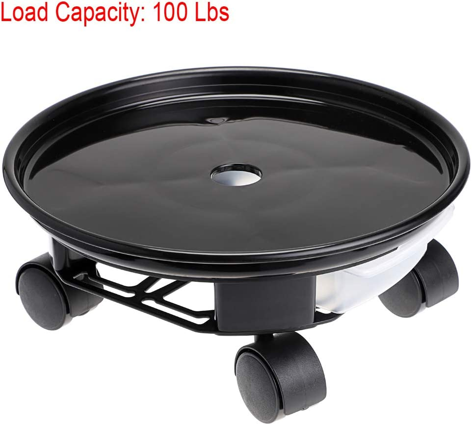 "Skelang 13/"" Plant Caddy Plant Saucer Pot with Moving Water Drawer Loading Capacity 100 Lbs Movable Planter Dolly Plant Stand Pallet for Heavy Planter"