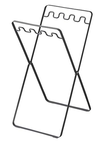 山崎実業 ゴミ箱 レジ袋スタンド タワー ブラック 6341