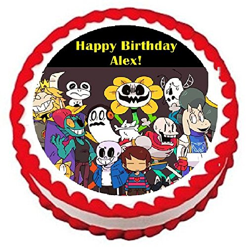 "Undertale Personalized Edible Cake Topper Image For Birthdays/Parties -- 7.5"" Round"