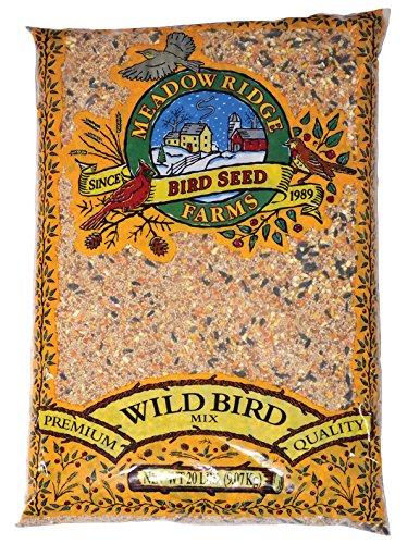 20 Wild Lb Bird Food (MEADOW RIDGE FARMS SEED Meadow Ridge Farms Wild Bird Seed, 20-Pound Bag)