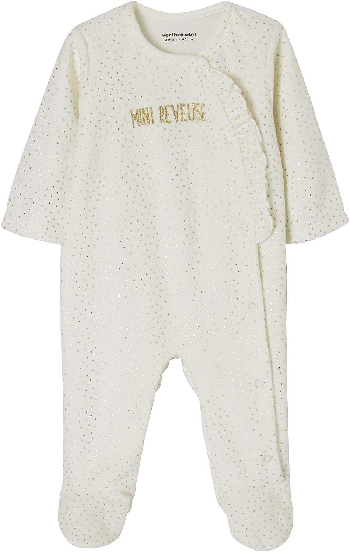 VERTBAUDET Lot de 2 pyjamas b/éb/é en velours lot vert gris/é 9M 71CM