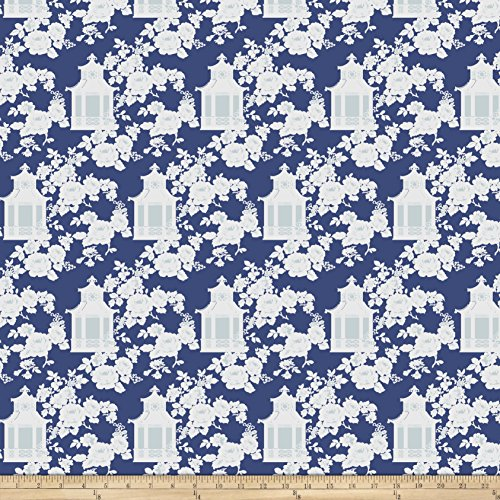 - FreeSpirit Fabrics Tanya Whelan Gazebo Toile Blue