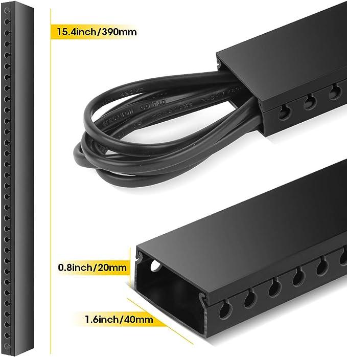 Organisateur pour c/âbles longueur 3,5m Conduit de C/âbles 39cm x 4cm x 2cm Noir Guide-c/âbles avec conduit encoch/é Stageek Conduit de C/âbles PVC auto-adh/ésif Panneau de gestion de c/âbles 9x39cm
