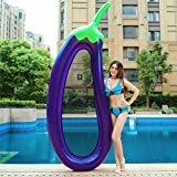 giant eggplant pool float , tita-dong inflatable swimming pool lounger raft hammock large summer