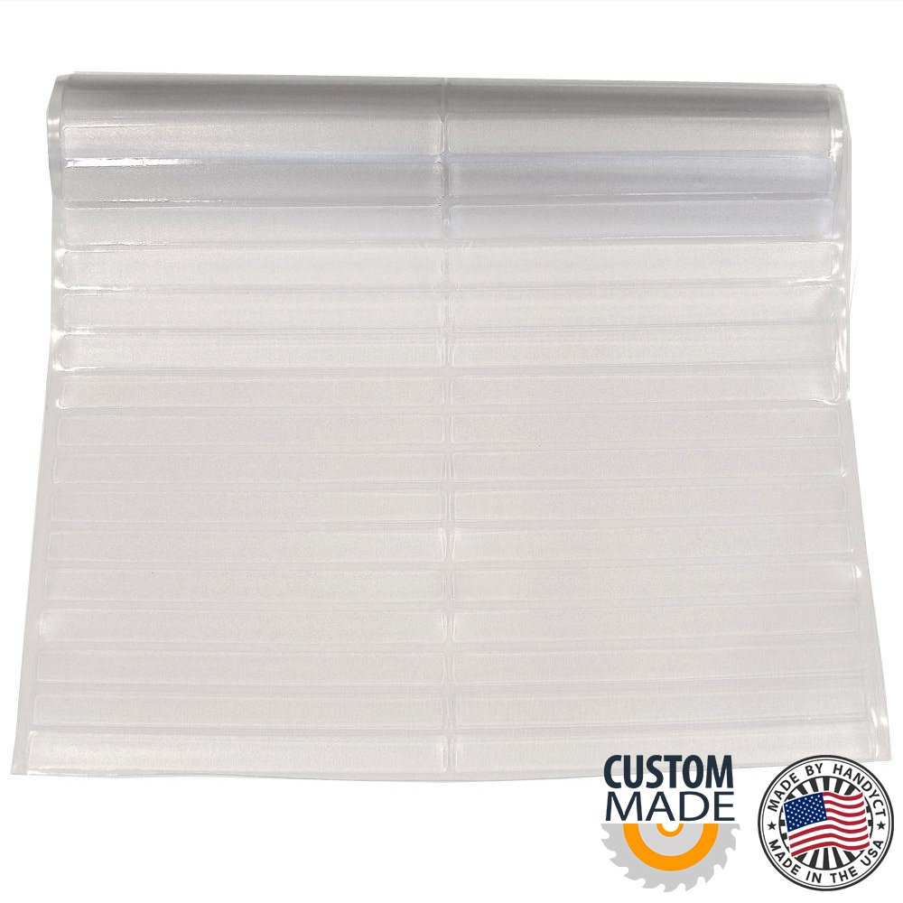 27 inches wide x 5 feet length Clear Vinyl Hard Floor Protector / Runner - SALES PER LINEAR FOOT -