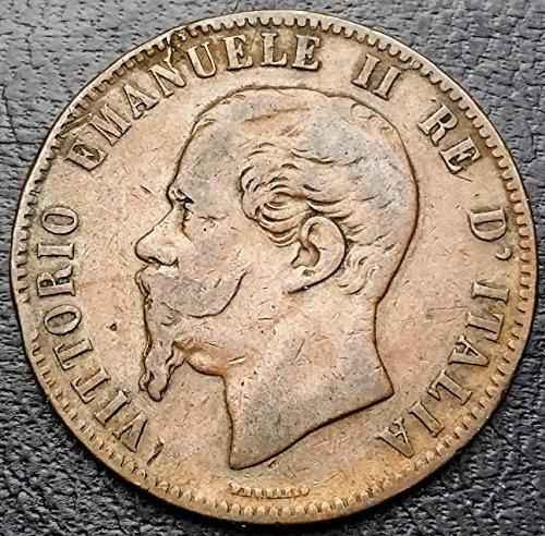 Unbranded ITALY: 1863 10 CENTESIMI COIN VITTORIO EMANUELE II, KM# 11.2