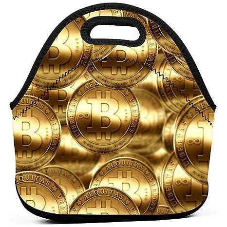 Bolsa Porta Alimentos,Monedas De Oro De Lluvia De Bitcoin ...