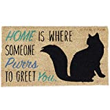 "DII Natural Coir Fiber, 18x30"" Entry Way Outdoor Door Mat with Non Slip Backing - Home Cat"