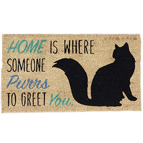 DII Indoor/Outdoor Natural Coir Easy Clean Rubber Back Entry Way Doormat For Patio, Front Door, All Weather Exterior Doors, 18 x 30