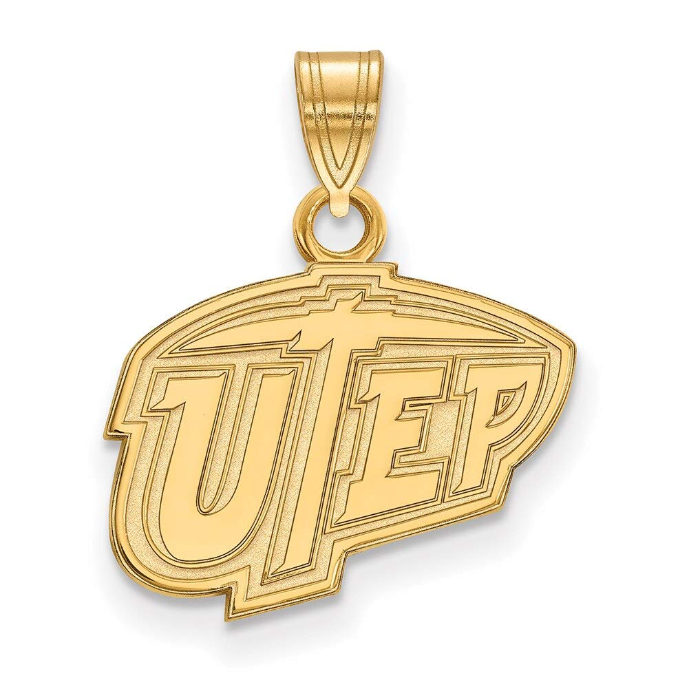 Lex /& Lu LogoArt 10k Yellow Gold The University of Texas at El Paso Small Pendant LAL129959