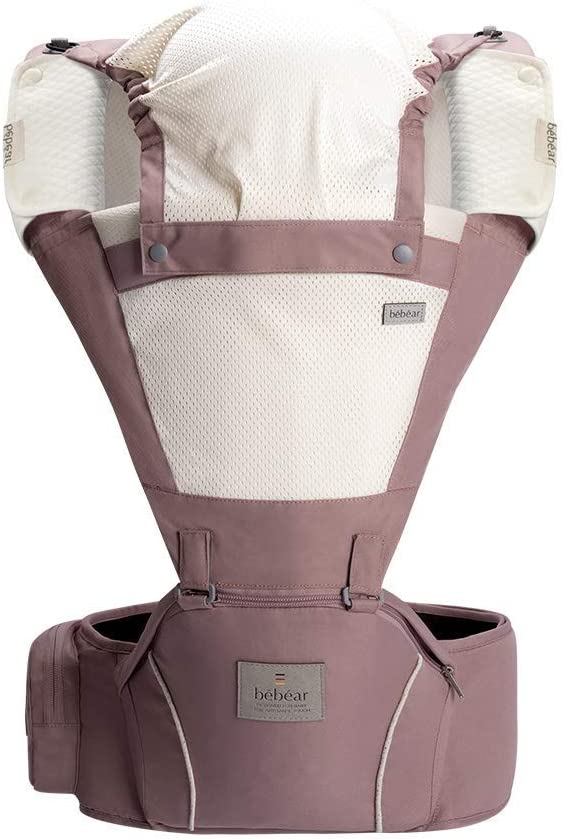 Approved by Safety Standard Bebamour Baby Carrier Sling for 0-36Months Light Green Ergonomic Baby Hip Seat 6 in 1 Front Carrier Breathable Baby Carrier Backpack for Newborn to Toddler