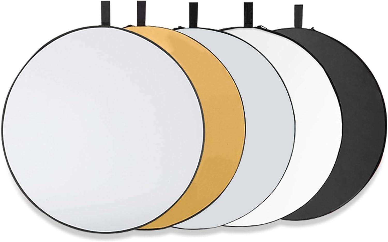 Tonsooze Fotografía Reflector de Luz 80CM 5 en 1 Reflectores Reflector Portatil Plegable Multi-disco Plegable con Asa Iluminación Difusor para Fotografía de Estudio Iluminación e Iluminación Exterior
