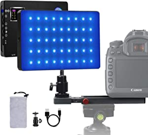 RGB Led Video Light Conference Laptop Lighting Photography Portable Light kit 4040mAh Battery Full Color Changing 3200k-7500k Dimmable USB-C for Personal YouTube Video Call Recording