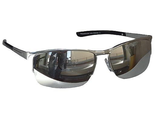 Viper Matrix Lunettes de soleil chromées argent miroir, lunettes de sport, moto, M21