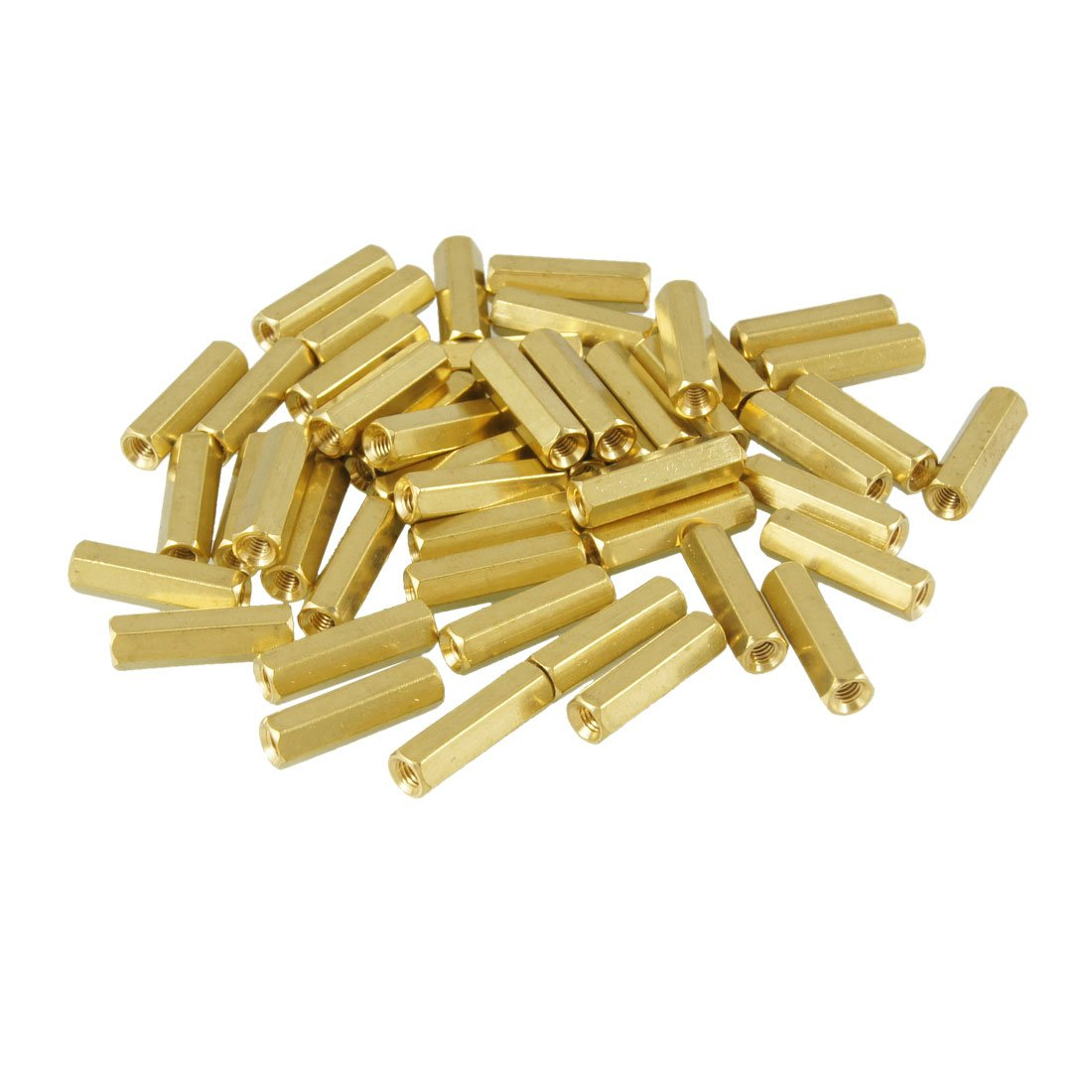 uxcell 50 Pcs M3X17mm Hex Head Female Thread PCB Standoff Spacers