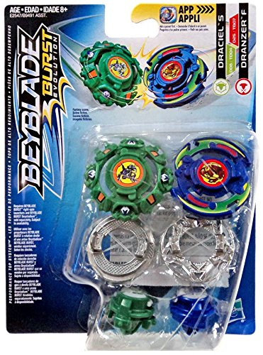 amazon com beyblade burst evolution dual pack draciel s and dranzer