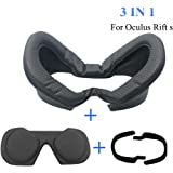 MASiKEN Face Mask for Oculus Rift S, PU Leather Face Pad, Premium Face Cushion Cover Sweatproof Lightproof (Type C)
