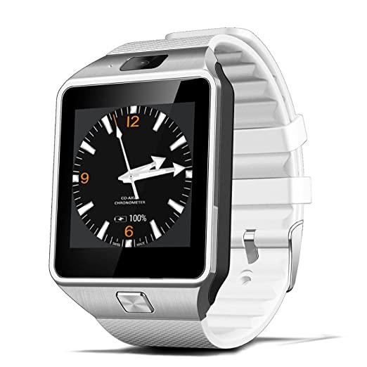 Amazon.com: Reloj Inteligente DEPORTIVO CON CAMARA PARA IPHONE Y ANDROID DIGITAL DE MUJER Y HOMBRE UNISEX ACCESORIOS PARA CELULARES RE0108 WHITE: Watches