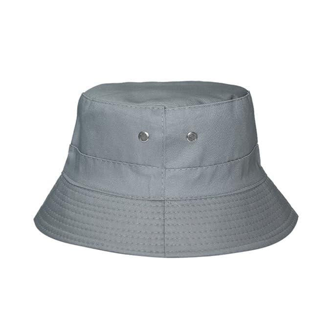296ab97ff50 Amazon.com  Opromo Cotton Twill Bucket Hat with 2 Ventilation Side ...