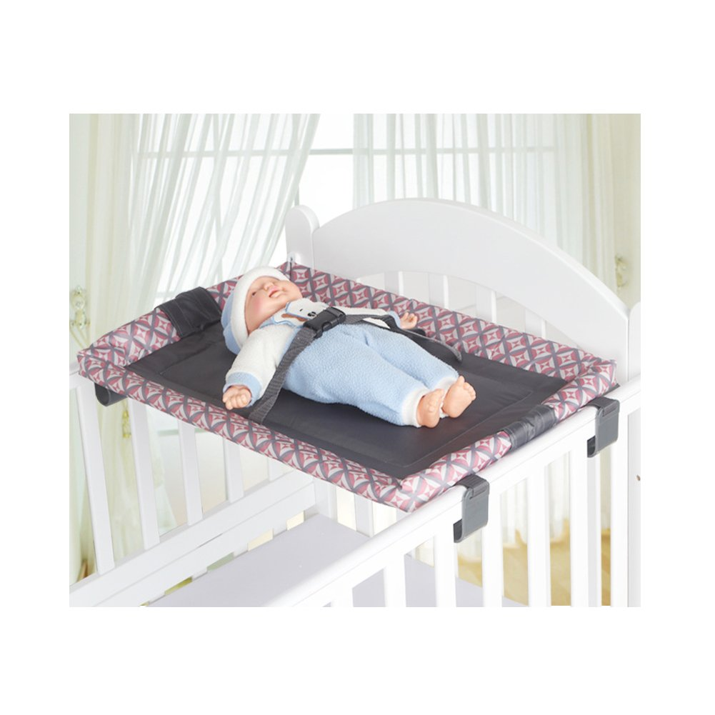 Miyaou Universal Baby Cot Top Changer 70x45 CM Portable Baby Changing Table (PlanALanger-Grey) 5 Colors