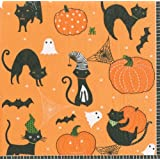 Halloween Party Supplies for Halloween Decorations Paper Cocktail Napkins Scaredy Cats, Pack of 40