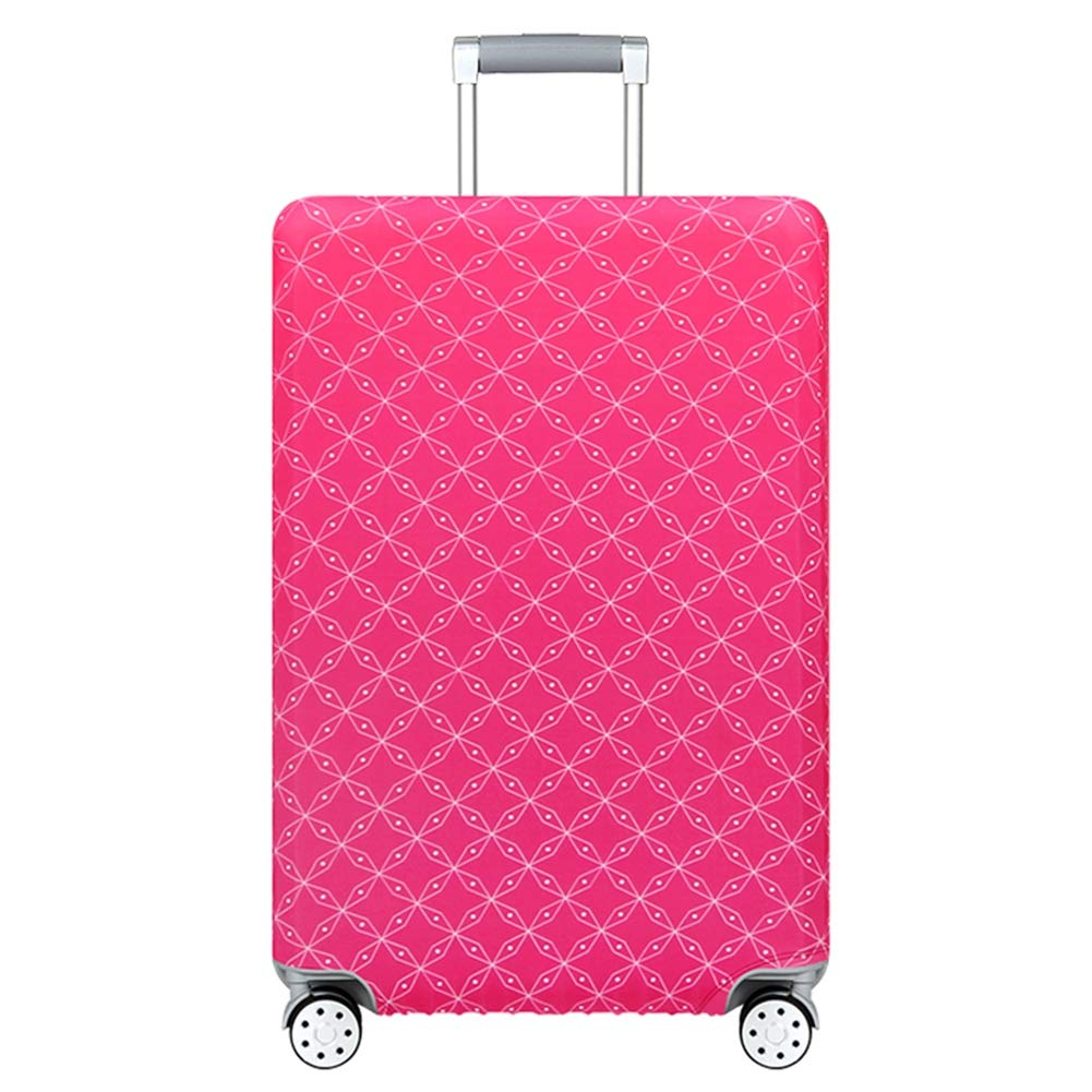 LDIW Suitcase Protective Cover Elasticity Polyester Spandex Trolley Case Protective Cover Fits 18-32 Inch Luggage,Yellow,M