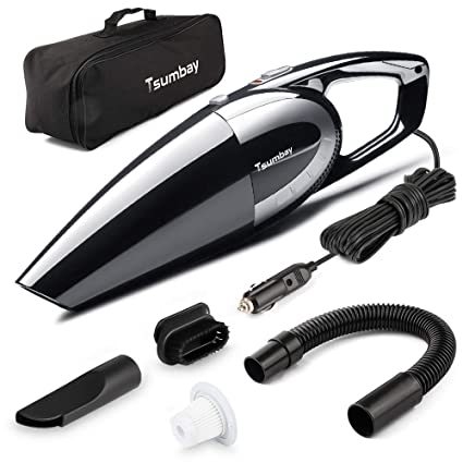 Car Vacuum, Tsumbay 5000PA Strong Suction Vacuum DC 12V 120W Wet/Dry  Portable Handheld Vacuum Cleaner Auto Dust Buster with 14 8 Feet Power  Cord,