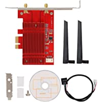 MQUPIN wtxup Dual Band WiFi Card AX200,WiFi 6 2x2 MIMO NGFF M.2 2230 BT 5.0 2.4Gbps Wi-Fi Miracast vPro with Advanced Heat Sink for Windows 10,64bit,Google,Chrome OS,Linux