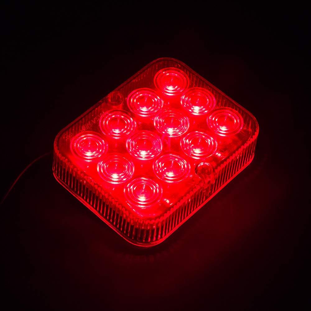 Red AOHEWEI 2 x LED Rear Fog Lights Trailer Fog Lamps Red 12V 24V Waterproof for Car Trailer Caravan Truck
