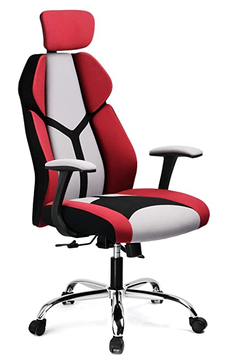 Excellent Gtracing Gaming Chair Soft Breathable Fabric Office Gaming Executive Chair Lumbar Support W Ergonomic Curved Deign Headrest Reclining Adjustable Andrewgaddart Wooden Chair Designs For Living Room Andrewgaddartcom
