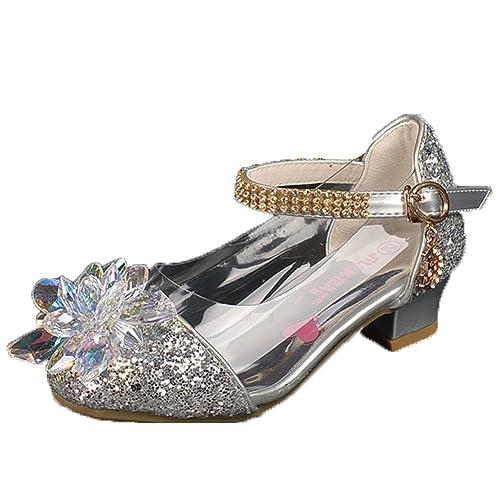 f6ba336af336f OPSUN Chuaussures princesse Enfants Filles Ballerines à bride Chaussure  Cérémonie Mariage Escarpin Babies  Amazon.fr  Chaussures et Sacs