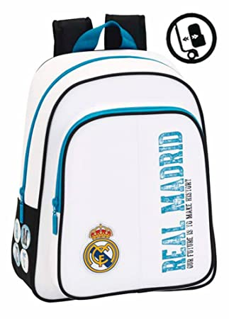 Safta 611754006 - Mochila infantil Real Madrid, 34 cm, Multicolor: Amazon.es: Equipaje