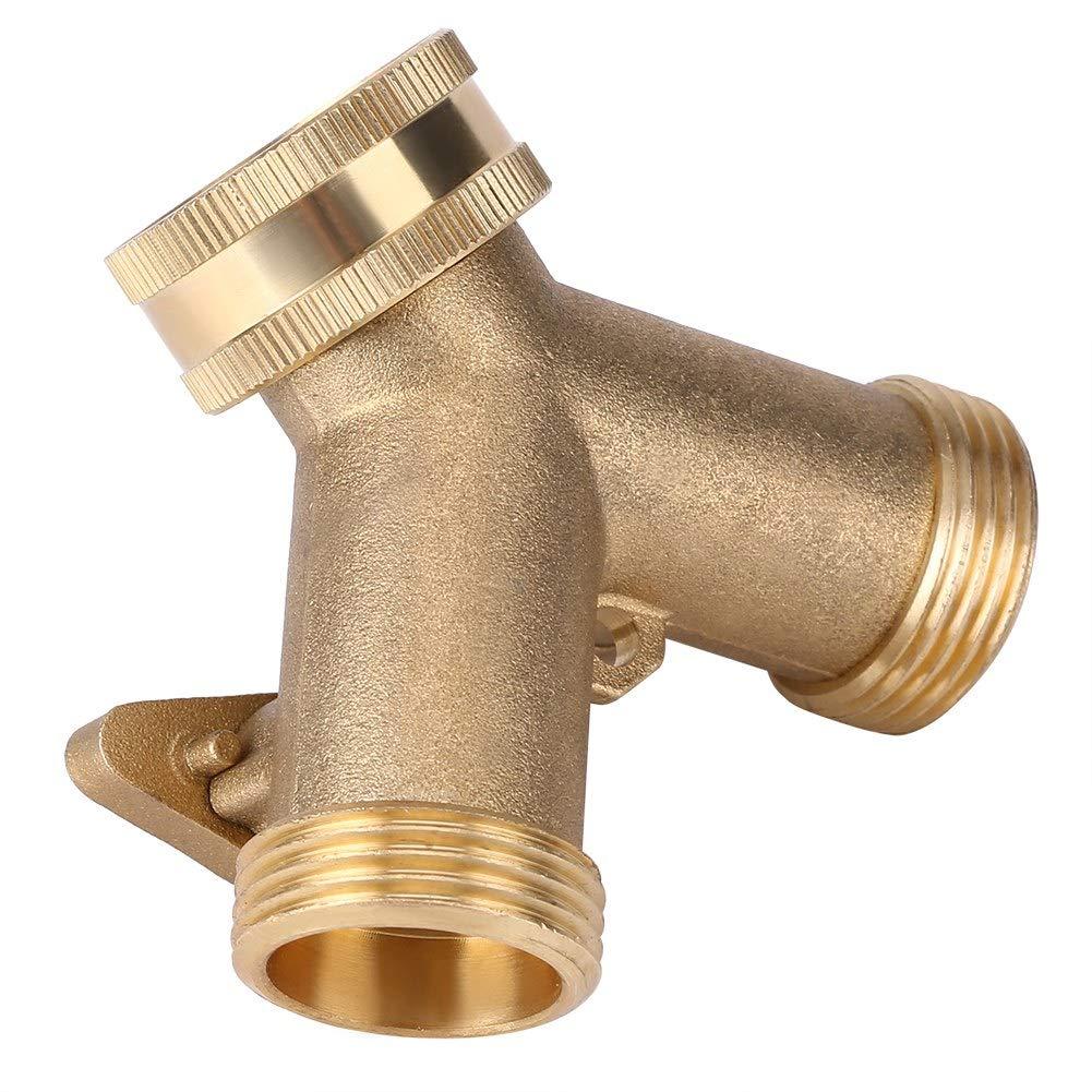 Conectores a y con adaptador topincn adaptador grifo agua lat/ón conector tubo 2 V/ías y forma 3//4 para riego de jard/ín