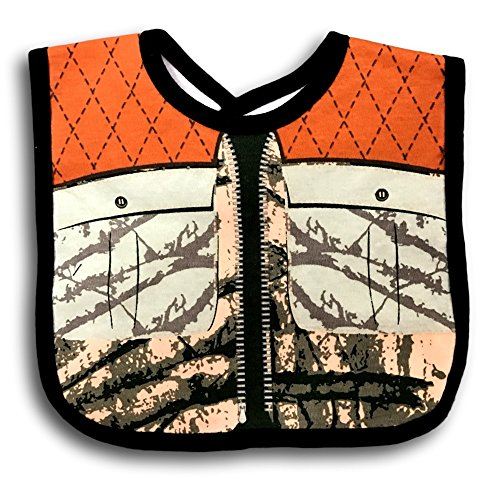 Embelle Baby Infant Boy Hunters Camoflauge Shooting Vest Cotton Knit Bib Outdoor Theme Green