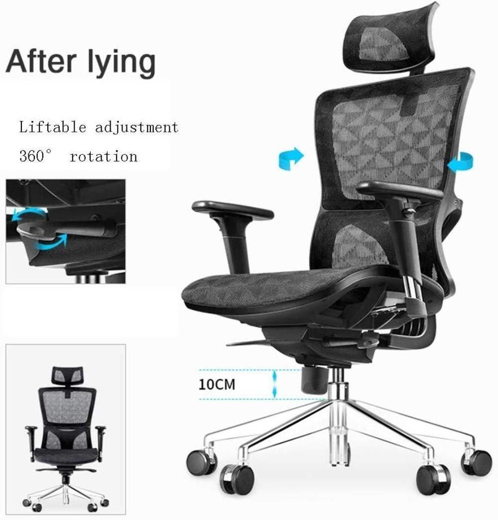 Xiuyun kontorsstol spelstol hög rygg ergonomisk stol, lyft dator svängbar stol företag stolar E-sportstol med ländrygg kudde/lyftarmstöd stol (färg: Stil 2) Stil 4
