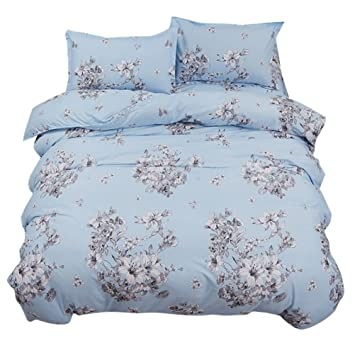 Zhhlinyuan 寝具カバーセット Qualitly Bedding Sets 3 Piece 100% Cotton  Pillowcases+Flat Sheet