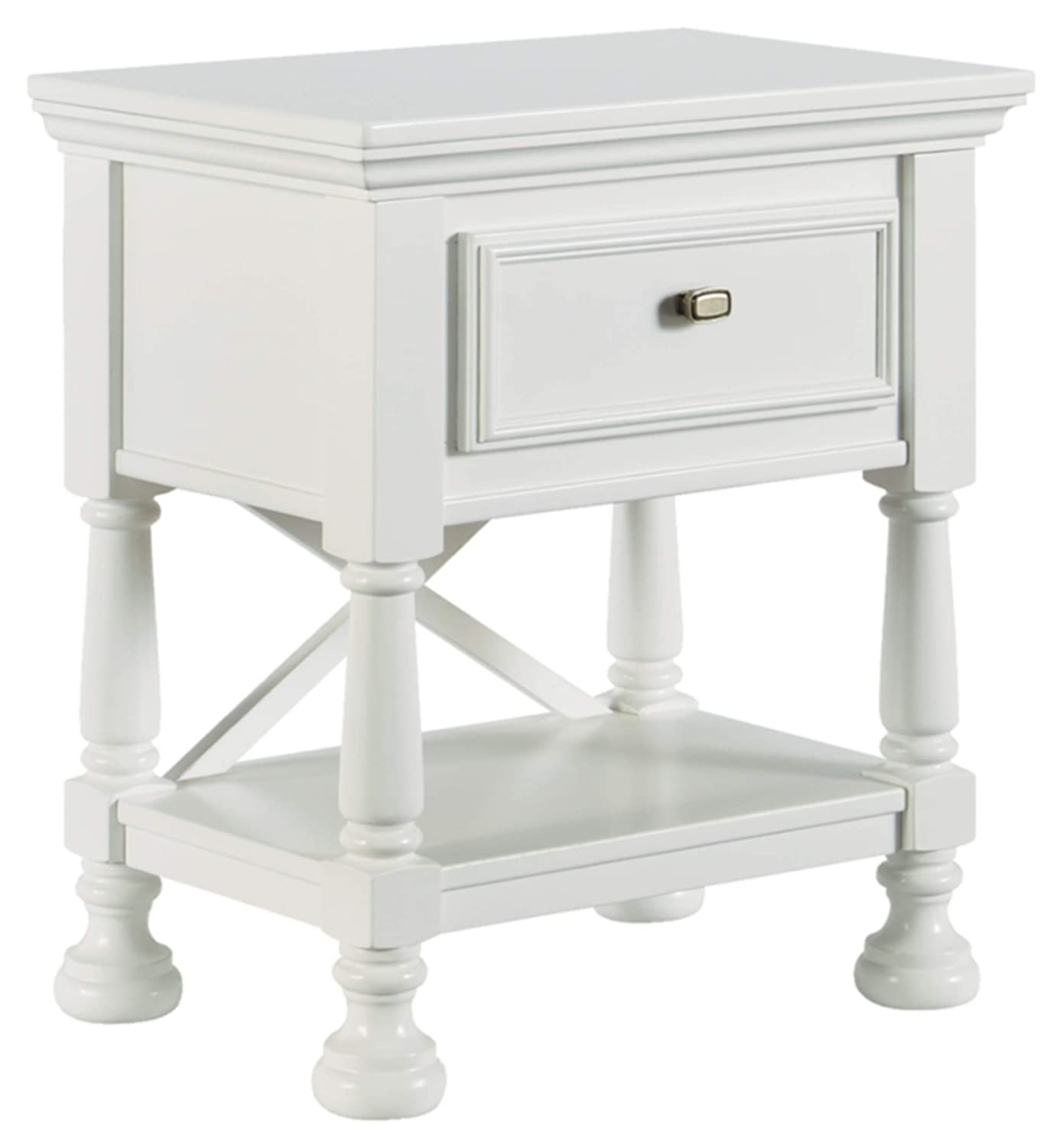 Ashley Furniture Signature Design - Kaslyn Nightstand - 1 Drawer - Casual - White